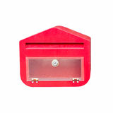A red mailbox on isolated white. Royalty Free Stock Photo