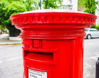 Red mailbox in London, hdr Royalty Free Stock Photos