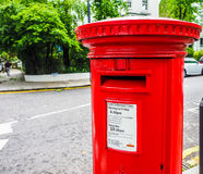Red mailbox in London (hdr) Stock Images