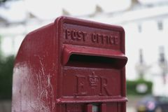 Red mailbox in London. Street Royalty Free Stock Photo