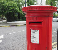 Red mailbox in London Royalty Free Stock Image