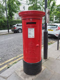 Red mailbox in London Stock Photography