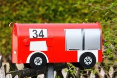 Red mailbox Royalty Free Stock Photos