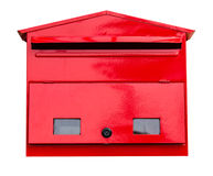 Red mailbox on white Stock Photography