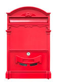 The red mailbox on white background Stock Photo