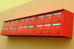 Red mailboxes Royalty Free Stock Images