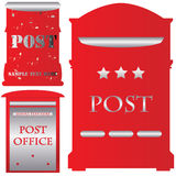 Red mailboxes Royalty Free Stock Photos