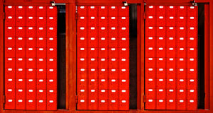 Red mailboxes Stock Image