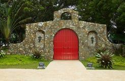 Red main door Stock Images