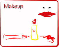 Red Makeup Royalty Free Stock Photo