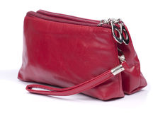 Red makeup bag Stock Photos
