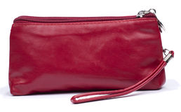 Red makeup bag Royalty Free Stock Images