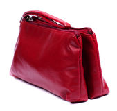 Red makeup bag Stock Photo