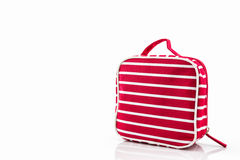 Red makeup bag, accessory. Stock Photography