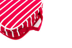 Red makeup bag, accessory. Royalty Free Stock Images
