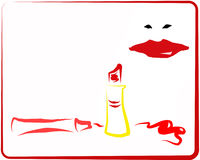 Red Makeup_2 Royalty Free Stock Image