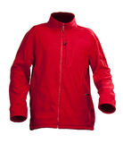 Red male fleece jacket isolated over white. Background Stock Photo