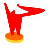 Red man logo Stock Image