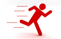 Red man running Stock Photo