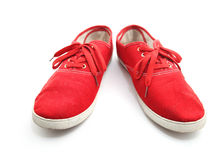 Red Man Shoes Royalty Free Stock Photo