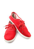 Red Man Shoes Royalty Free Stock Images