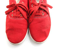 Red Man Shoes Stock Photo