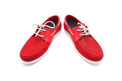 Red Man Shoes Royalty Free Stock Photography