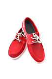 Red Man Shoes. Isolated on a white background Royalty Free Stock Images
