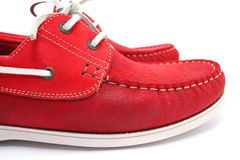 Red Man Shoes Stock Image