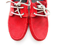 Red Man Shoes Royalty Free Stock Image