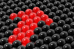Red management of business Royalty Free Stock Image