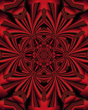 Red mandala. Abstract fractal imag of a red mandala Royalty Free Stock Photography