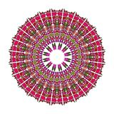 Red mandala for energy and power obtaining, circle mandala for meditation training Royalty Free Stock Photos