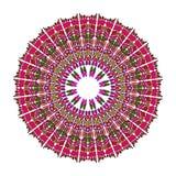 Red mandala for energy and power obtaining, circle mandala for meditation training Royalty Free Stock Photos