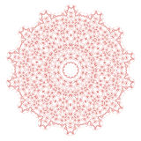 Red Mandala Isolated. On White Background. Round Ornament Royalty Free Stock Photos