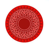 Red mandala. Meditation and calm with a mandala vector illustration