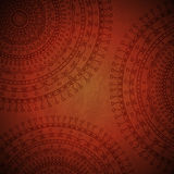 Red mandala ornament background Stock Images