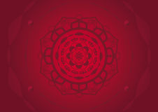 Red mandala vector Stock Image