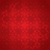 Red mandala wallpaper Stock Image