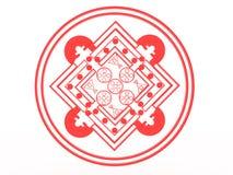 Red mandala Stock Image
