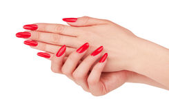 Red manicure Stock Photography