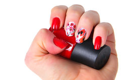 Red manicure Royalty Free Stock Photography