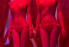 Red mannequin Royalty Free Stock Images
