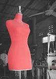 Red Mannequin Royalty Free Stock Photos