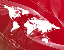 Red map Stock Images