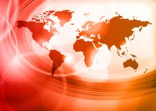 Red map Stock Photo