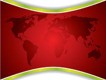 Red map backdrop Stock Photo
