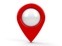 Red map pointer blank Stock Photography