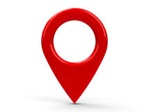 Red map pointer Stock Photography