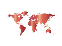 Red map world Royalty Free Stock Photos